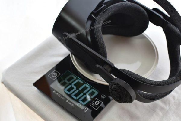 HP Reverb G2の重量について